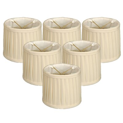 Side Pleat 6 Silk Drum Candelabra Shade Color: Eggshell