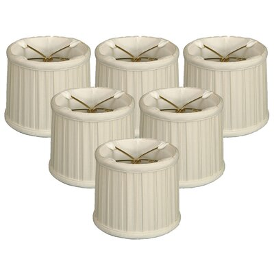 English Pleat 5 Silk Drum Candelabra Shade Color: Eggshell