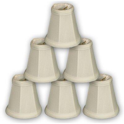 3.5 Silk Bell Candelabra Shade Color: White