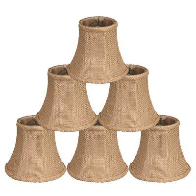 5 Burlap Bell Candelabra Shade