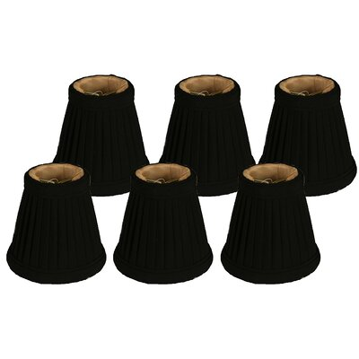 3.5 Silk Empire Candelabra Shade Color: Black/Gold