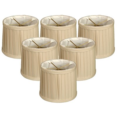 Side Pleat 6 Silk Drum Candelabra Shade Color: Beige