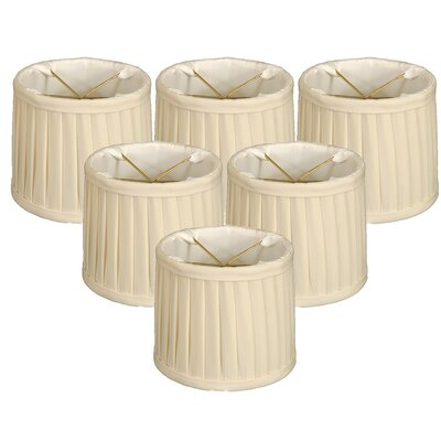 Side Pleat 5 Silk Drum Candelabra Shade Color: Eggshell