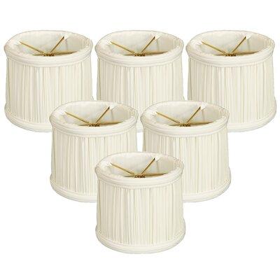 Gather Pleat 5 Silk Drum Candelabra Shade Color: White