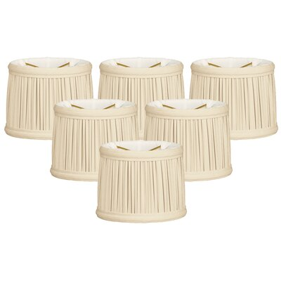 Gather Pleat 6 Silk Drum Candelabra Shade Color: Eggshell