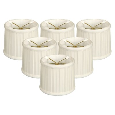 English Pleat 5 Silk Drum Candelabra Shade Color: White