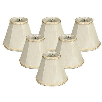 5 Silk Empire Candelabra Shade Color: White