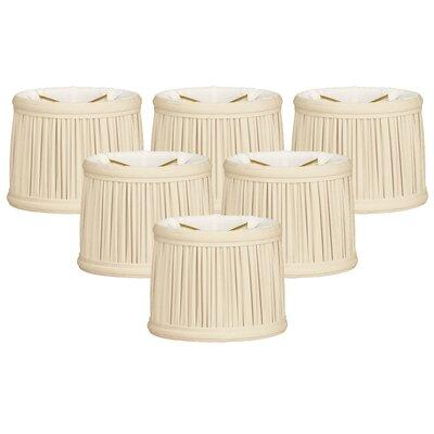 Gather Pleat 5 Silk Drum Candelabra Shade Color: Eggshell