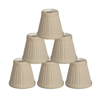 4.25 Silk Empire Candelabra Shade Color: Beige