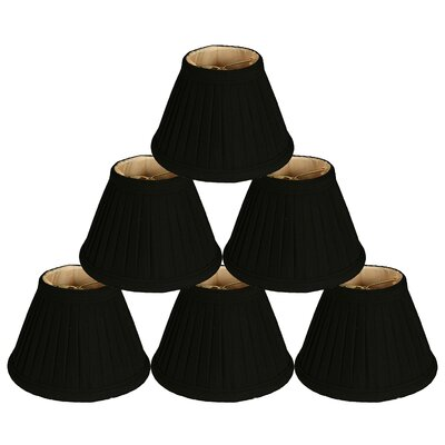6 Silk Empire Candelabra Shade Color: Black/Gold