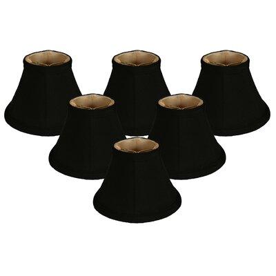 6 Silk Bell Candelabra Shade Color: Black/Gold
