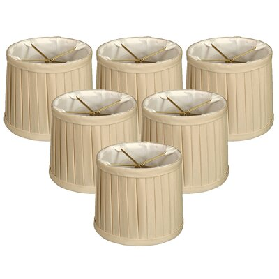 Side Pleat 5 Silk Drum Candelabra Shade Color: Beige