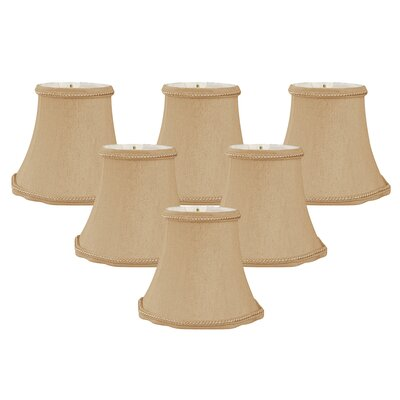Scalloped 5 Silk Bell Candelabra Shade