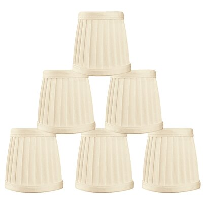 3.5 Silk Empire Candelabra Shade Color: Beige
