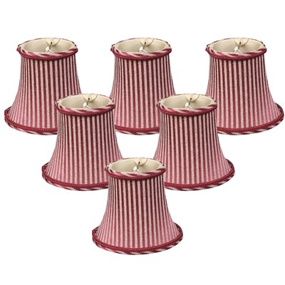 5 Silk Bell Candelabra Shade Color: Antique Gold/Burgundy