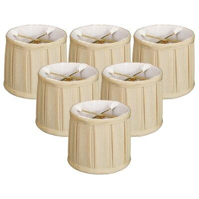 English Pleat 5 Silk Drum Candelabra Shade Color: Beige