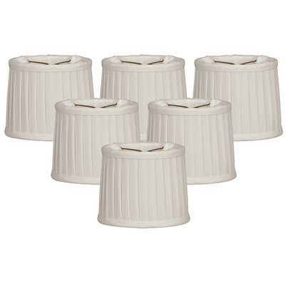 Side Pleat 6 Silk Drum Candelabra Shade Color: White