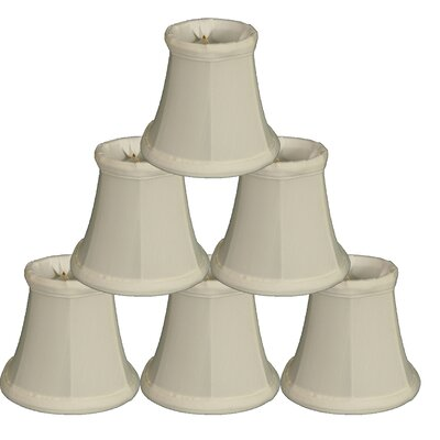 5 Silk Bell Candelabra Shade Color: White