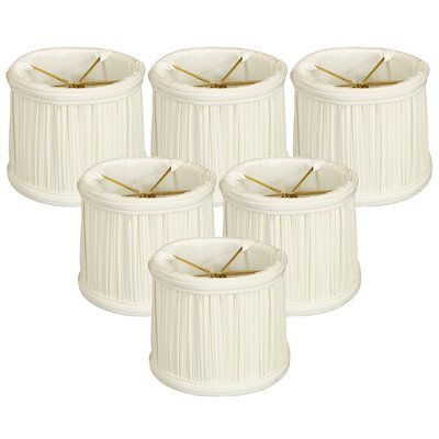 Gather Pleat 6 Silk Drum Candelabra Shade Color: White