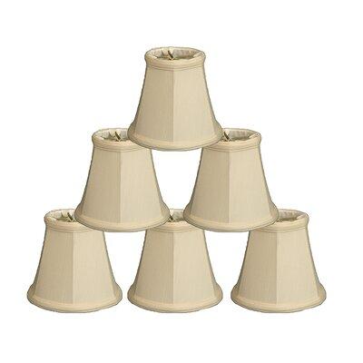 5 Linen Bell Candelabra Shade Color: Eggshell