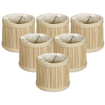 Gather Pleat 5 Silk Drum Candelabra Shade Color: Beige
