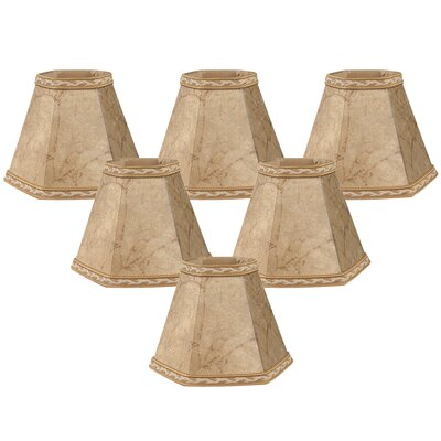 5 Faux Leather Empire Candelabra Shade