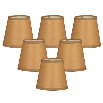 5  Parchment Paper Empire Candelabra Shade Color: Brown