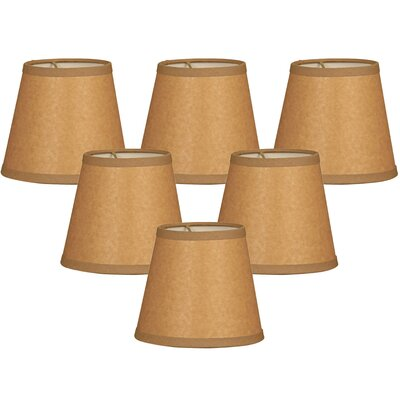 Parchment 6 Paper Empire Lamp Shade Color: Brown