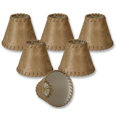 6 Faux Leather Empire Lamp Shade Color: Light Brown