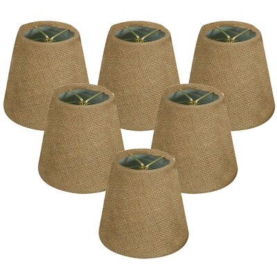 6 Burlap Empire Lamp Shade