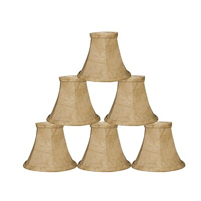 5 Faux Leather Bell Candelabra Shade