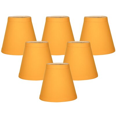 5 Silk Empire Candelabra Shade Color: Yellow