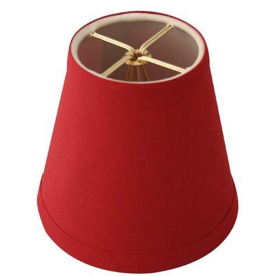 5 Silk Empire Candelabra Shade Color: Red