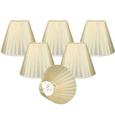 Organza 6 Silk Empire Lamp Shade Color: Eggshell