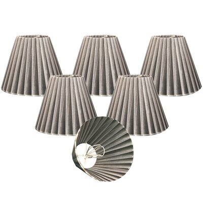 Organza 6 Silk Empire Lamp Shade Color: Gray