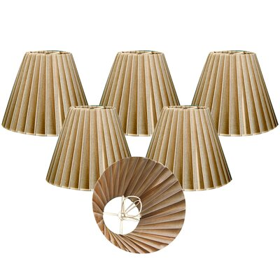 Organza 6 Silk Empire Lamp Shade Color: Antique Gold