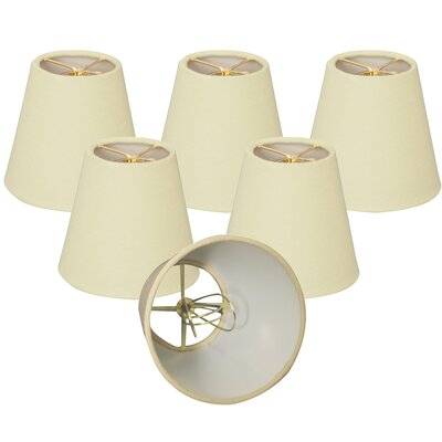 5 Linen Empire Candelabra Shade Color: Eggshell