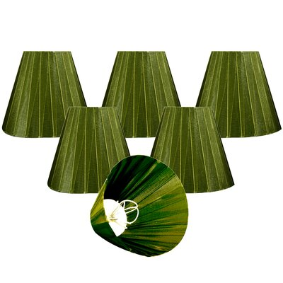 Organza 6 Silk Empire Lamp Shade Color: Green