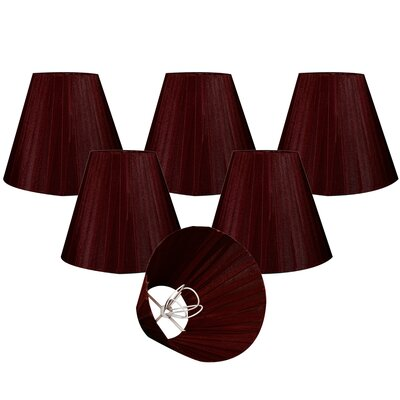 Organza 6 Silk Empire Lamp Shade Color: Maroon