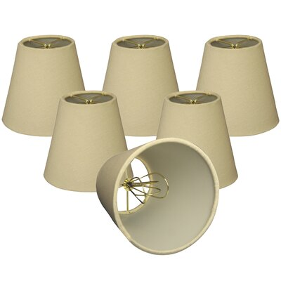 5 Linen Empire Candelabra Shade Color: Beige