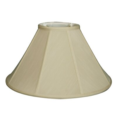 Timeless 22 Silk Empire Lamp Shade Color: Eggshell/Gold