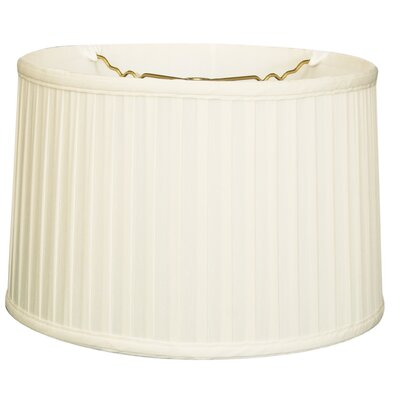 Timeless 14 Silk Drum Lamp Shade Color: White/Off White