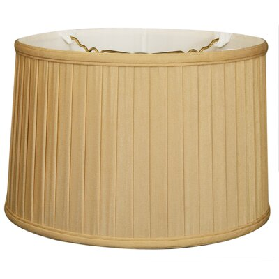 Timeless 16 Silk Drum Lamp Shade Color: Antique Gold/Off White