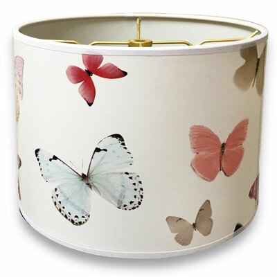 Butterfly Designer Hard Back 10 Paper Drum Lamp Shade