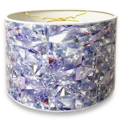 Broken Glass Printed Designer Hard Back 10 Paper Drum Lamp Shade