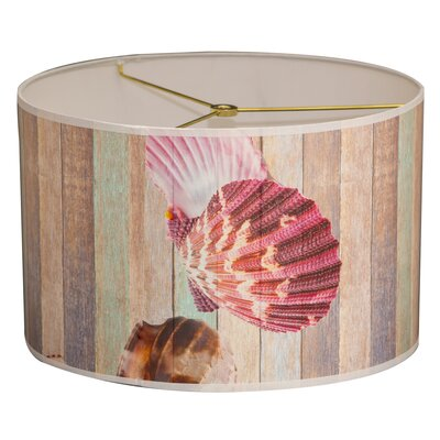 Sea Shell Designer Hard Back 10 Paper Drum Lamp Shade