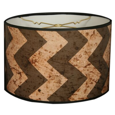 Two-Tone Chevron Designer Hard Back 10 Paper Drum Lamp Shade