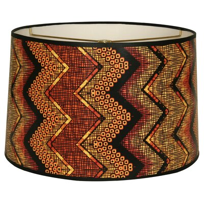 Chevron Designer Hard Back 10 Paper Drum Lamp Shade