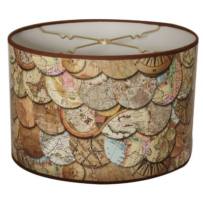 Vintage Maps Designer Hard Back 10 Paper Drum Lamp Shade