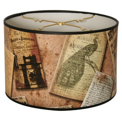 Victorian Letters Designer Hard Back 10 Paper Drum Lamp Shade